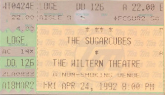 The Sugarcubes, Wiltern