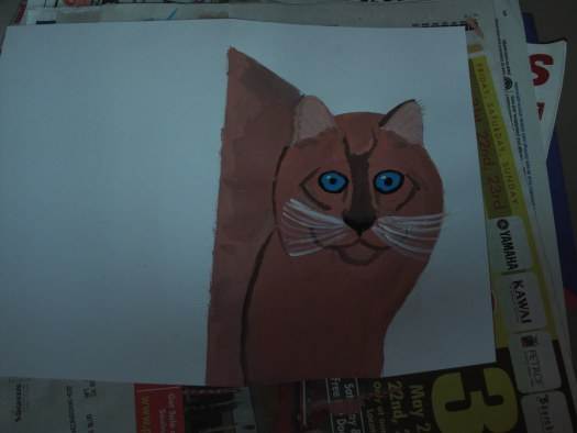 Painting My Cat Card