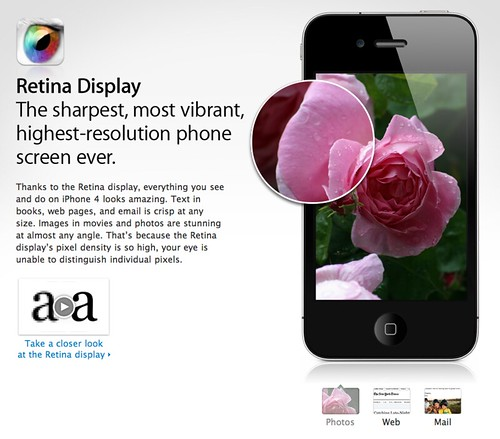 Apple - iPhone 4 - Learn about the high-resolution Retina display
