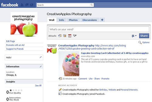 creativeapples photography now on facebook!