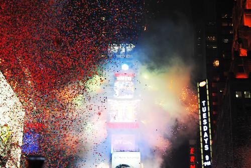 Confetti, Times Square