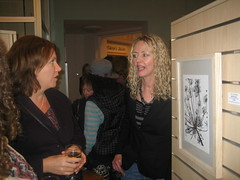 Patsy Whiting amongst friends with work by Liz Dalton