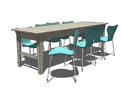 knockoffwood easy modern narrow farm table 10