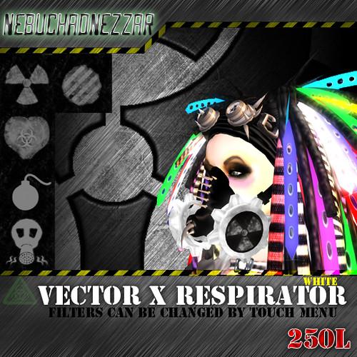 NDN - Vector X Respirator  white