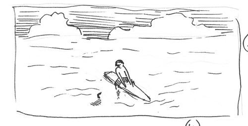 Surfboard thumbnail sketch - discard