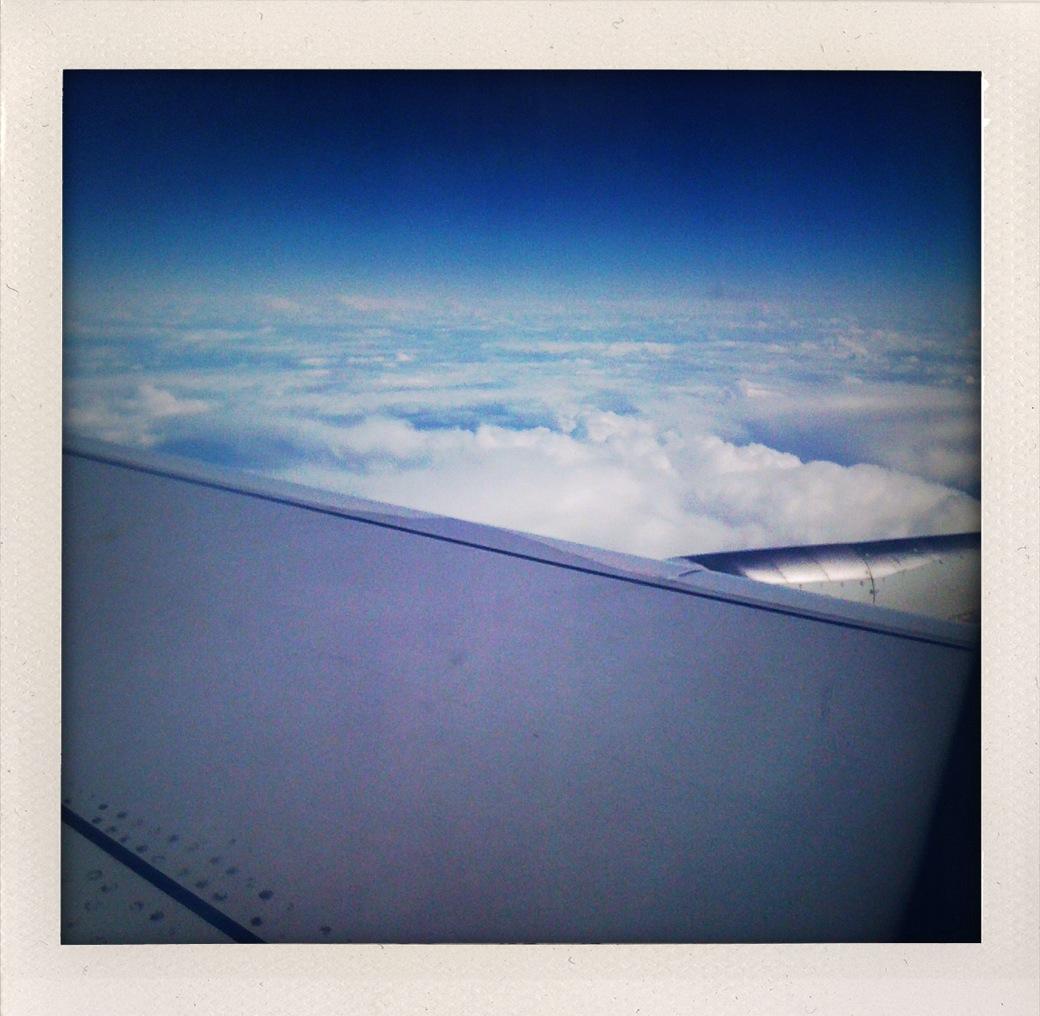 Ala y nubes