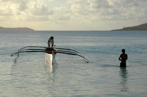 Fishermen, Calaguas Island, Camarines Norte