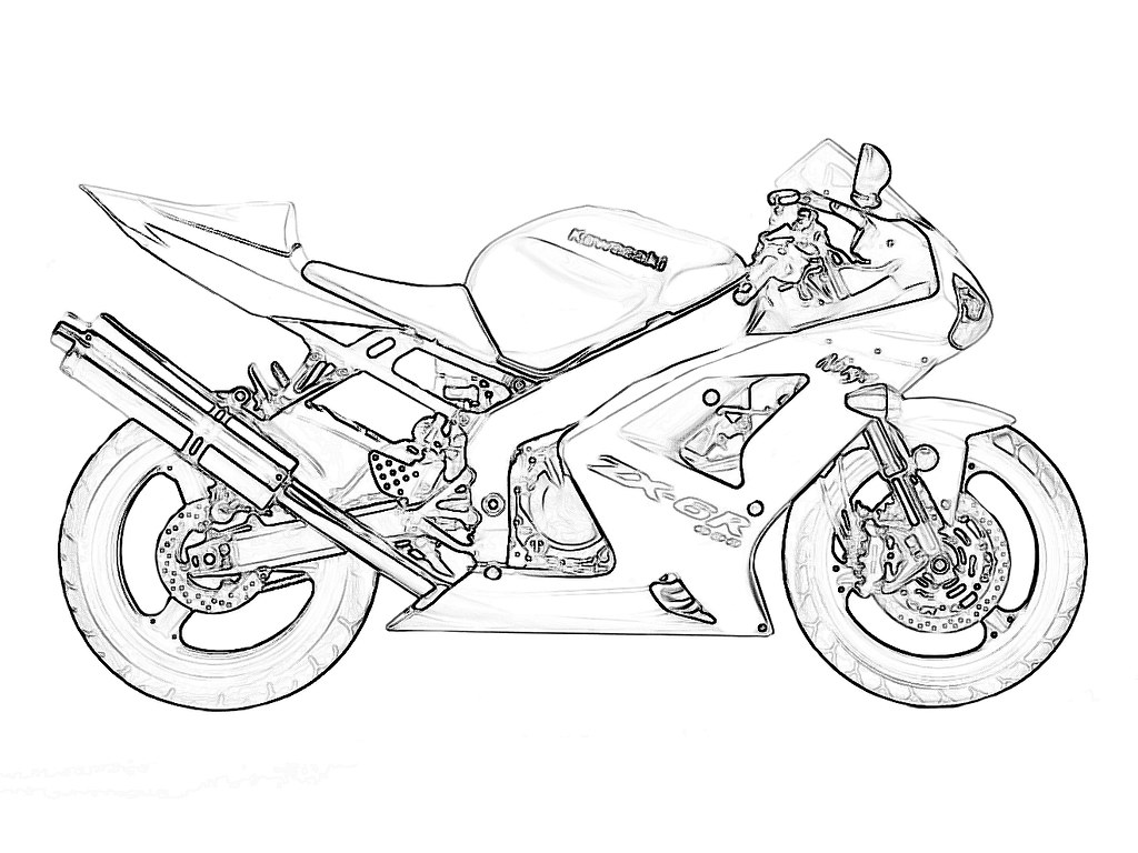 Ninja Bike Coloring Pages Coloring Pages