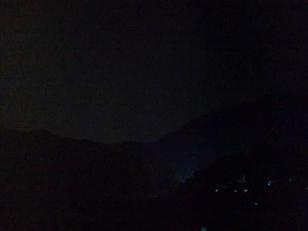 F-07B撮影、夜山の稜線