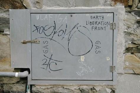 Graffiti, Cinque Terra, Tuscany, Italy