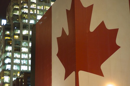 Georgia Street Canada Flag
