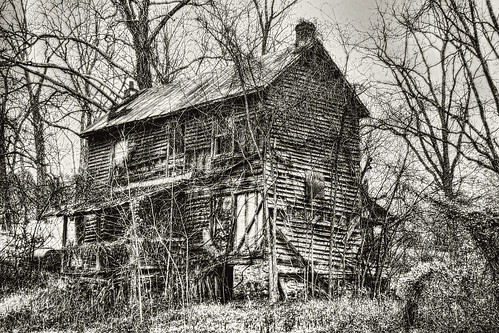 Old House Lithograph