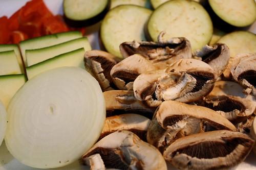 verduras cortadas para tempura