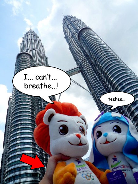 Lyo & Merly at the Petronas Twin Towers