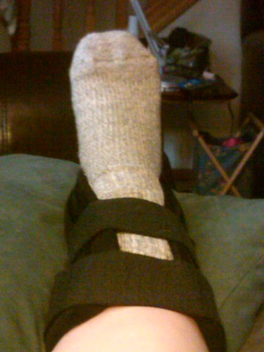 Ankle braced and up