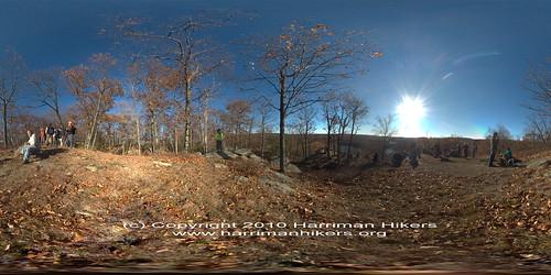 VR Panorama: Harriman Hikers at Lake Skannatati Overlook, Harriman State Park Park, NY 11-7-2010 on Flickr