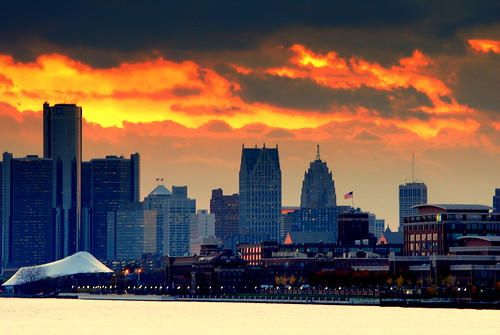 Sunset Over Detroit