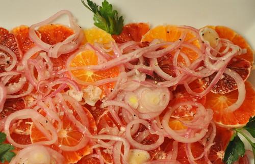 Blood Orange and Red Onion Salad with Gray Sea Salt