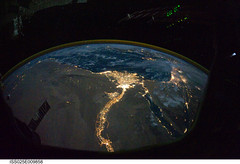Cairo and Alexandria, Egypt at Night (NASA, In...