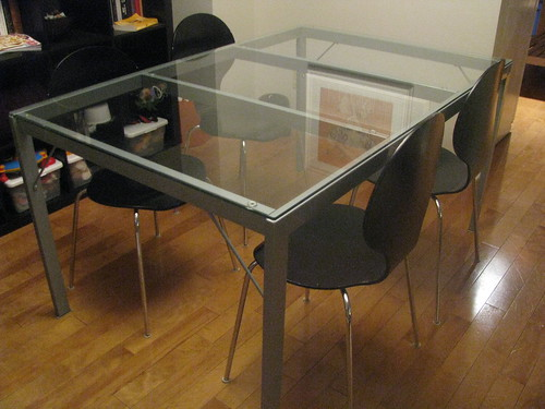 Glass topped dining table for you?