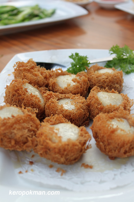 Scallop wrapped in Yam Ring
