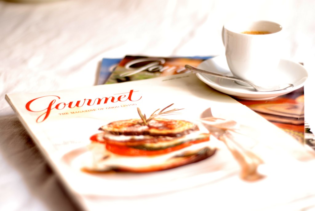 gourmet and a cup of coffee