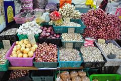 thai garlic, shallots, onions