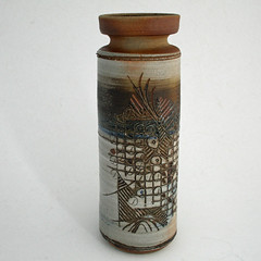 Jim and Jean Tyler. Sgraffito vase.
