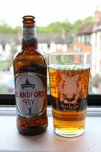 Blandford fly, bottle and glass