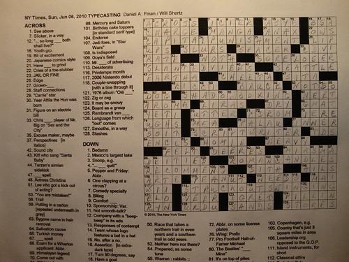 NYT Sunday Puzzle 5/6/10
