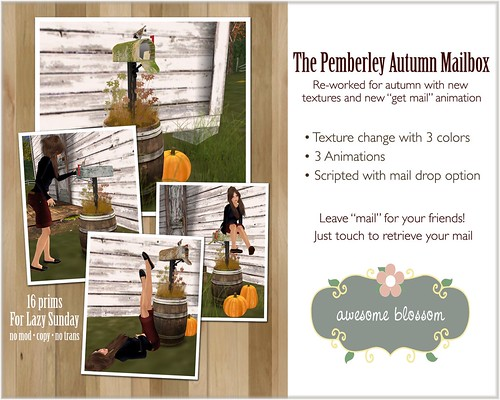 Pemberley Autumn Mailbox for Lazy Sunday