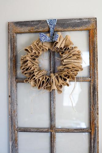 Burlap Wreath 010910