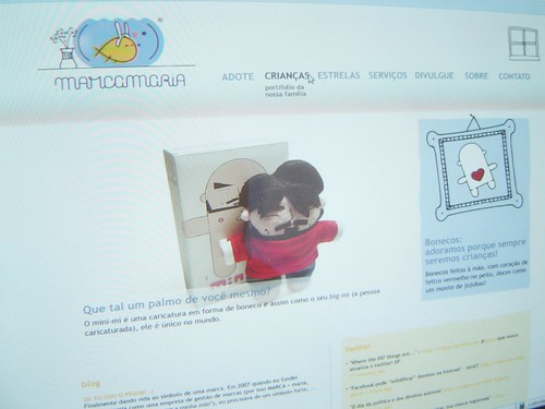 Preview do novo site do .marcamaria