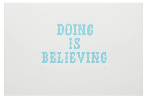 Doing Is Believing