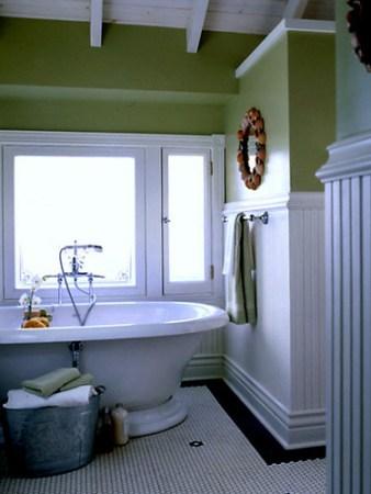 bath flower tile Coastal Living
