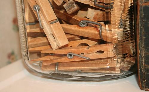 Jar of Clothes Pins