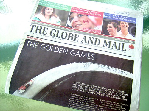 2010 VANCOUVER WINTER OLYMPICS | THE AFTERMAATH :: LOBE AND MAIL THE GOLDEN GAMES