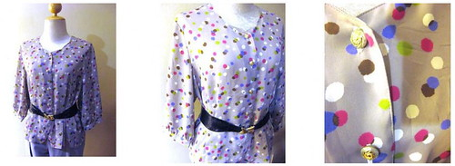 Vintage Blouse Dotty Dots