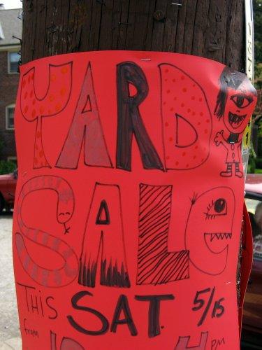 Wacky sale sign