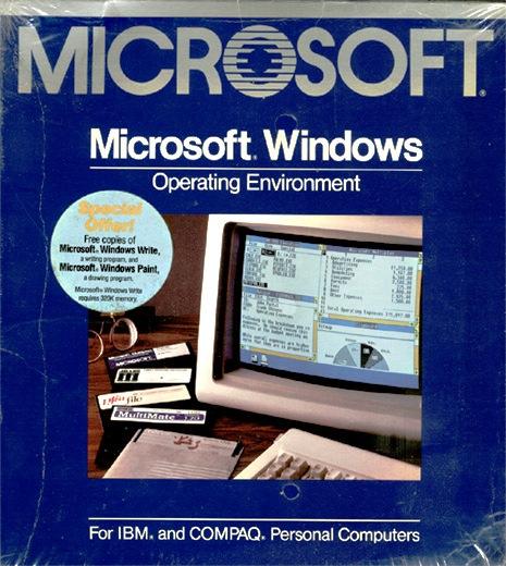 Microsoft Windows 1.0 box
