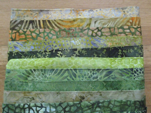 to-die-for green batik fabrics