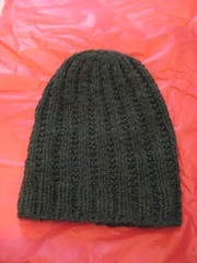 FO: slouchy ribby hat