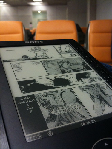 OneManga scanlation on Sony Reader