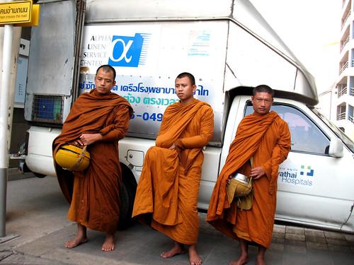 7:36 monks hanging around