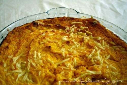 42. Suflê de cenoura com queijo
