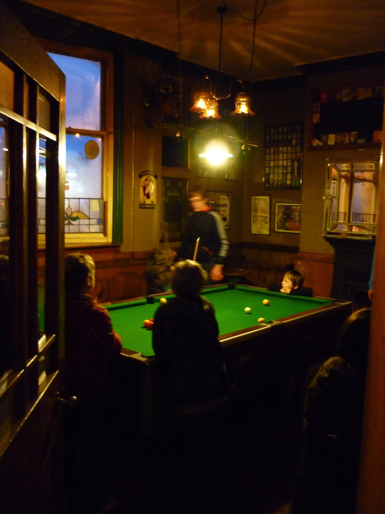 Pool room at the Beehive