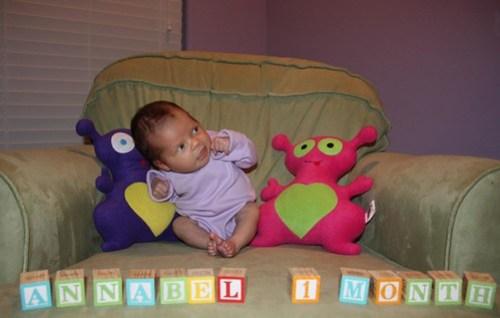 Annie, one month