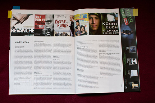 Alte DVD-Rezensionsseite