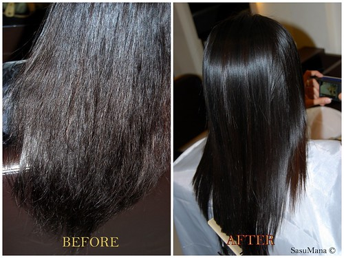 Before & After Rebonding