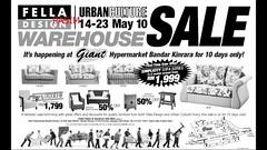 Fella Design & Urban Culture warehouse sale